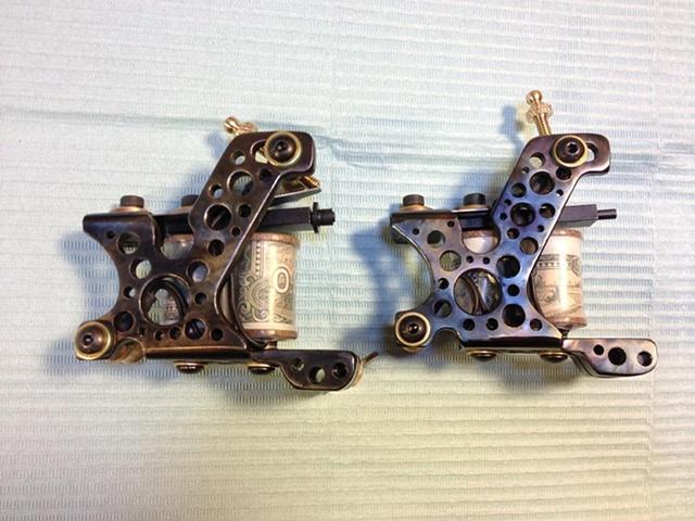 gun metal heat finish w/ holes drilled liner shader pair