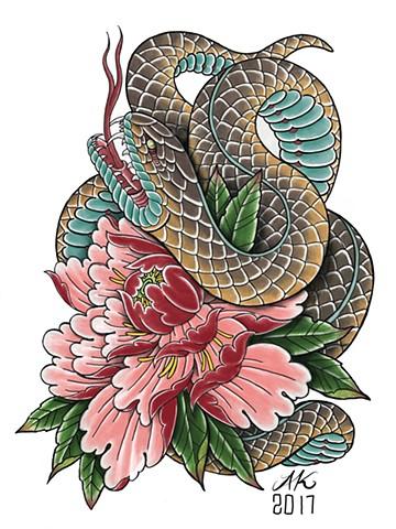 Snake peony