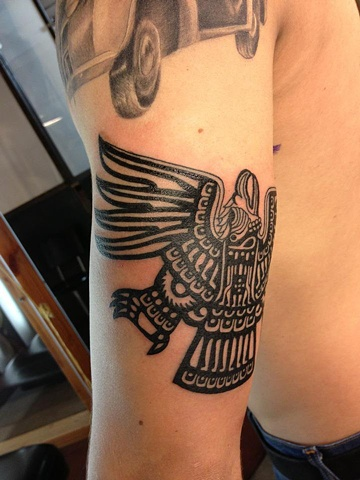 Aztec Eagle Tattoo2