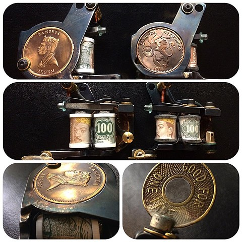 Custom coin side plate pair (SOLD)