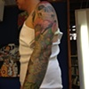 Sugar skull/poppy flower sleeve-2