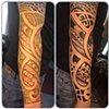 Polynesian sleeve (free hand)