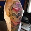 Sugar skull/poppy flower sleeve-1