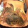Koi/lotus stomach cover up finished