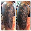 Lion face half sleeve