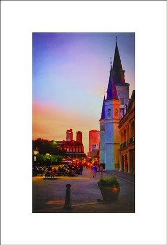 St Louis Cathedral at Sunset - 19061