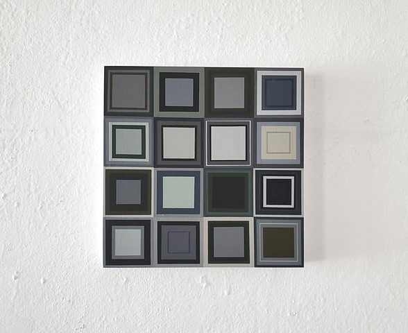 square, repetition, geometric art, hard edge, yong sin, yong sin artist