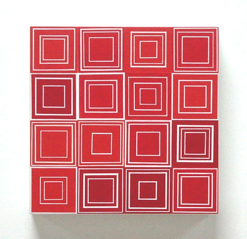 square, singular forms repeated, yong sin, painting