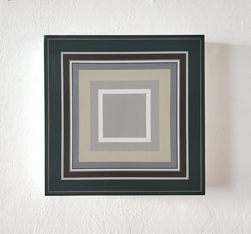 square, contemporary art, yong sin, painting, hard edge