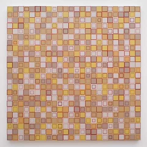 Installation, Los Angeles World Airport, Terminal I, geometric, square, squares, minimal, shape, collaged painting