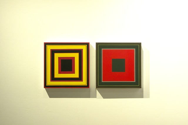installation, squares, circles, painting, paintings, yongsin, yong sin, yucca valley arts center