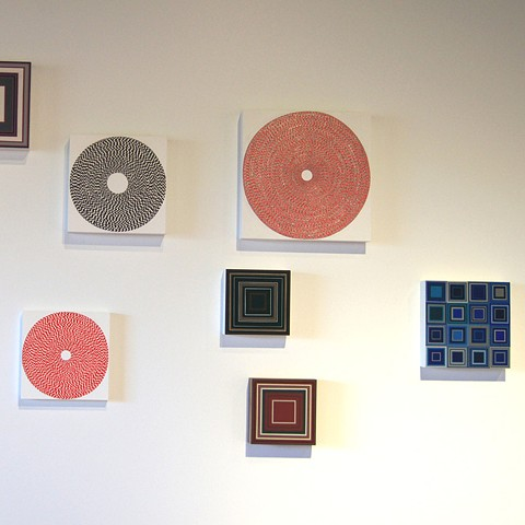 yucca valley art center, contemporary art, squares, circles