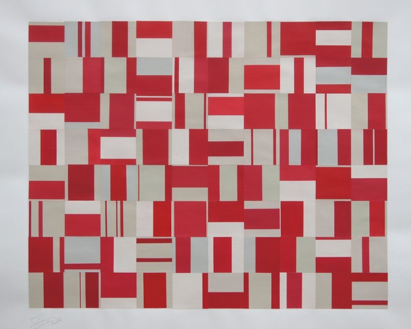 pattern recognition, abstract, minimal, works on paper