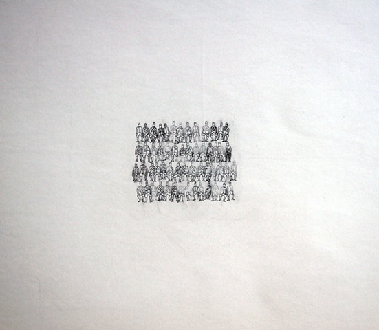 figure, repetition, drawing, minimal, variation, pencil, graphite, group, eraser