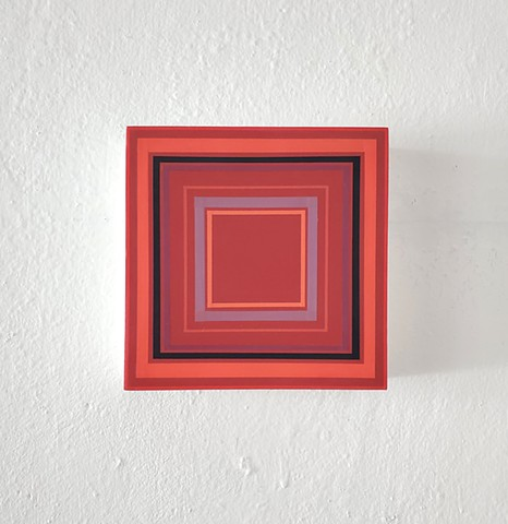 square, geometric, hardedge, contemporary art, yong sin, yong sin artist