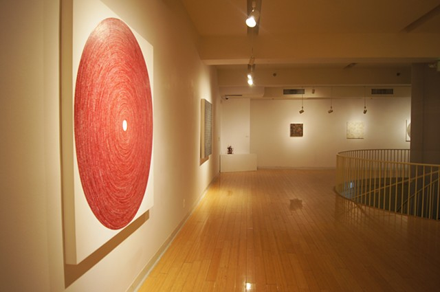 installation, Korean cultural center, circles, squares, mixed media, taped art, octagon, art, yong sin, yongsin, kccla