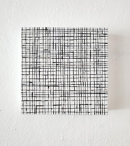 ink drawing, grid, conceptual, contemporary art, yong sin, yong sin artist