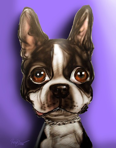 Custom Pet Caricature Cartoon