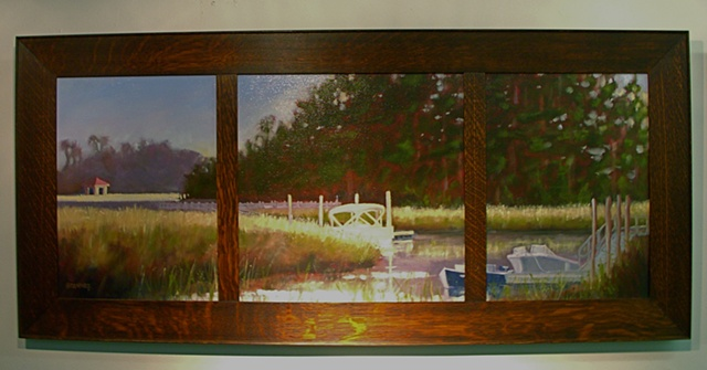 Marsh Docks at Ion - Tryptych