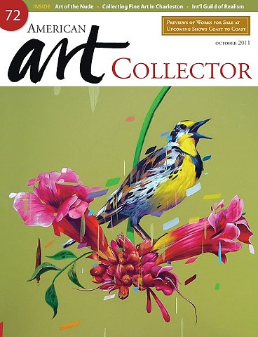 American Art Collector magazine cover. Sixth Anniversary October Issue 2011