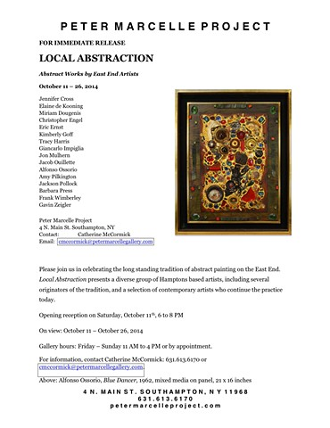 Peter Marcelle Project Local Abstraction  October 11- 26, 2014