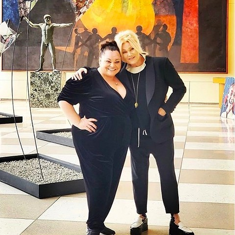 Deborra-Lee Furness Jackman and Keala Settle. Standing up for Hopeland.