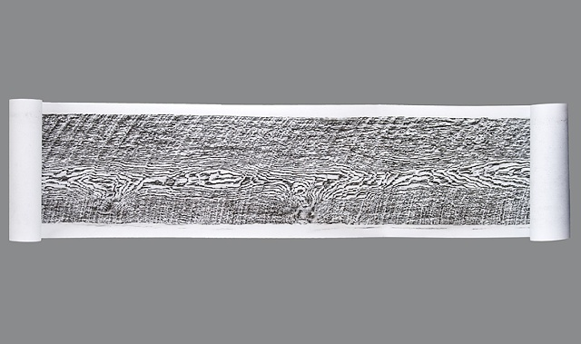 20-foot Graphite Etching of Skagit County Old Growth Lumber