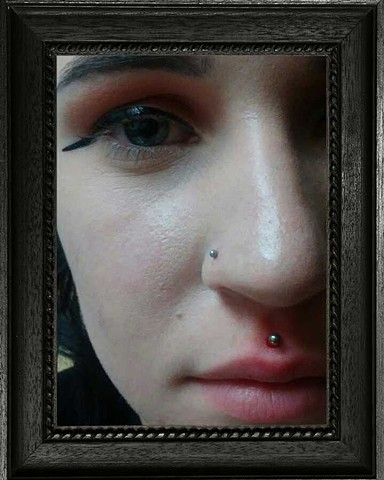 medusa piercing, lip piercing, piercing, body piercing, All Aces Tattoo, Katherine Veronica, Best of Clay 2019