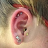 Cartilage Piercings 3 with mini barbells 16g