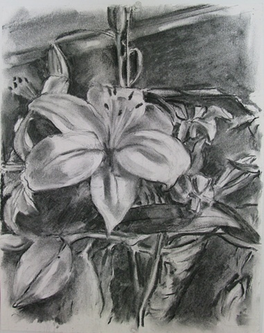 Lilies with Foliage