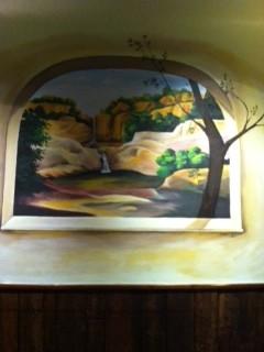 Rocco's Restuarant mural.  Dining Room