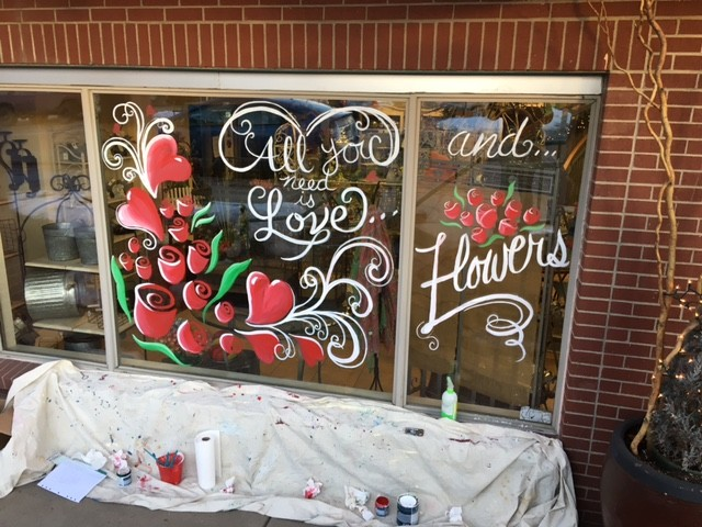 Window Painting by Art Anywhere, Noreen Schroder [pinterest]