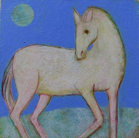 horse white periwinkle stallion figure