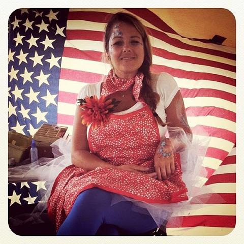 Patriotic Lady