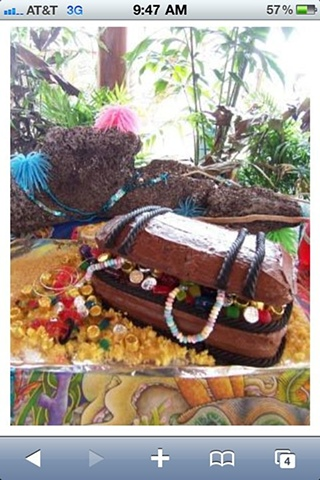 Pirates Treasure Chest Cake