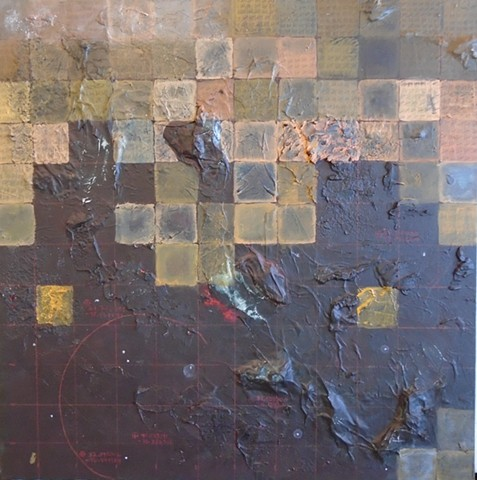 painting about populations, migration, skirting the unknown
