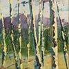 Shelburne Birches II (diptych), SOLD