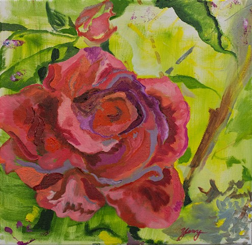 Red Rose Oil Painting