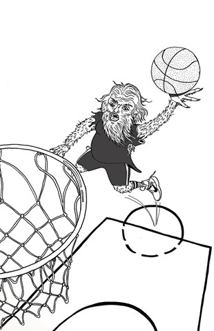 Illustrated Basketball Lingo for Nike