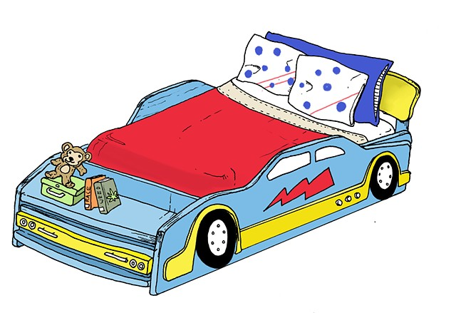 Car Bed, Background Assets