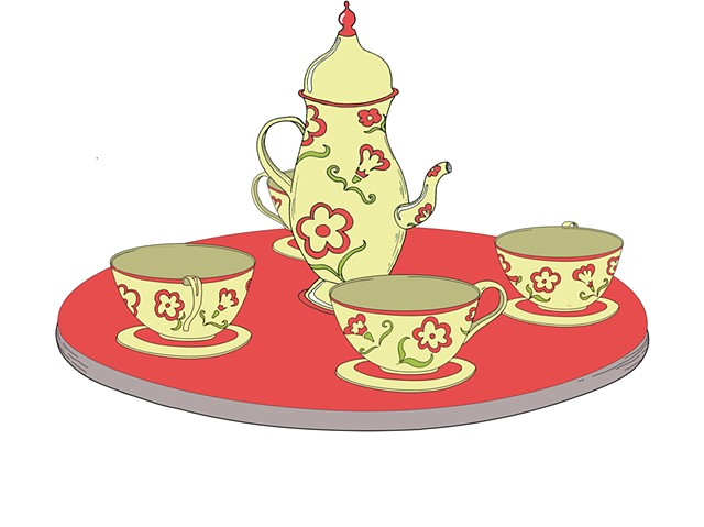 Tea Set Ride, Prop Assets