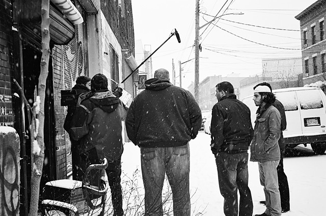 Snow Set // Kamal Ahmed & Crew outside of Be Electric Studios, NYC. 35mm