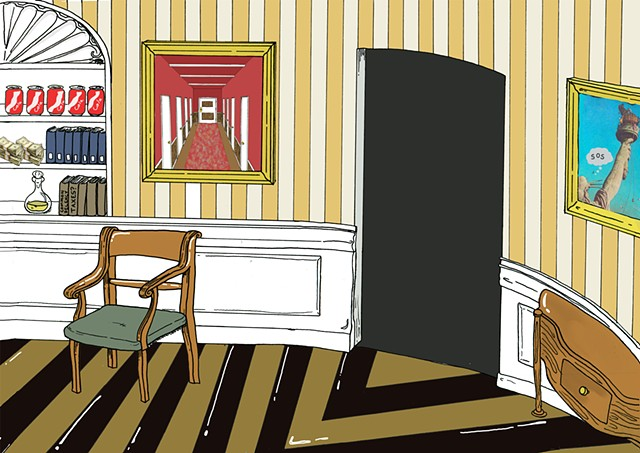 "Oval Office, Background for Devendra Barnhart, ""25th Amendment"" Music Video"