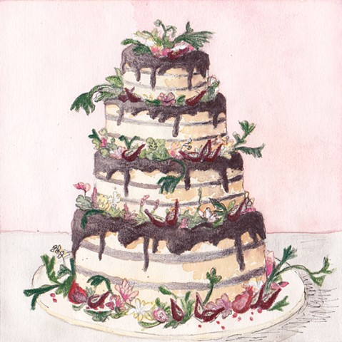 Luckybird Wedding Cake (Wild Cake Study)