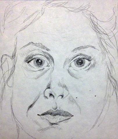 Self Portrait, Age 25 (Sketch)