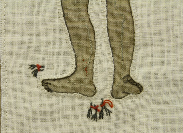 Bundled bird feet (Detail)