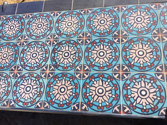Cement Tile Designs at the San Pedro Creek Culture Park
