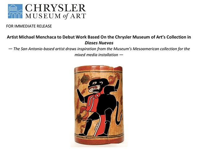 Press Release Dioses Nuevos at Chrysler Museum