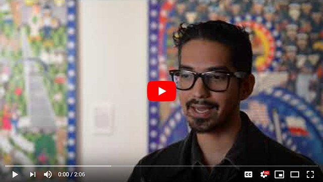 Connie González visits with San Antonio artist Michael Menchaca | Brooks