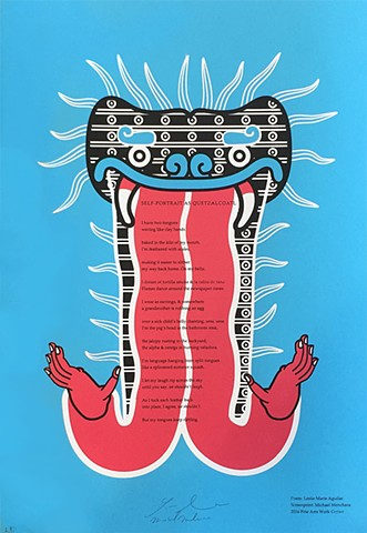 "Leslie Marie Aguilar's ""Self Portrait As Quetzalcoatl"""